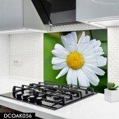 Disegno Cam Ocak Arkası Koruyucu 50x50 Cm Papatya Model