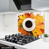 Disegno Cam Ocak Arkası Koruyucu 50x50 Cm Bitki Çayı Model