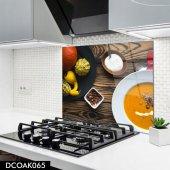 Disegno Cam Ocak Arkası Koruyucu 50x50 Cm Yemek Tabağı Model