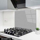 Disegno Cam Ocak Arkası Koruyucu 50x50 Cm Gri Çizgili Model