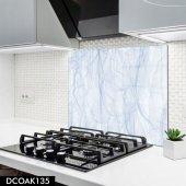 Disegno Cam Ocak Arkası Koruyucu 50x50 Cm Gök Mavisi Dali Desenli
