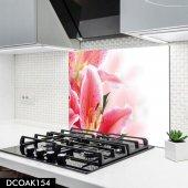 Disegno Cam Ocak Arkası Koruyucu 50x50 Cm Çiçek Desenli