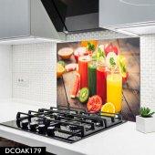 Disegno Cam Ocak Arkası Koruyucu 50x50 Cm Meyvesuyu Desenli