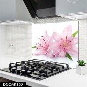 Disegno Cam Ocak Arkası Koruyucu 50x50 Cm Pembe Çiçek