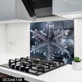 Disegno Cam Ocak Arkası Koruyucu 50x50 Cm Kristal