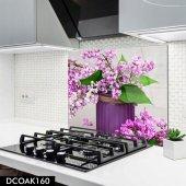 Disegno Cam Ocak Arkası Koruyucu 50x50 Cm Lavanta