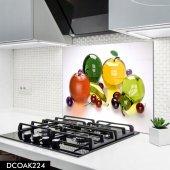 Disegno Cam Ocak Arkası Koruyucu 50x50 Cm Renkli Meyveler
