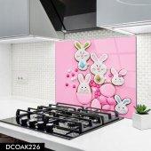 Disegno Cam Ocak Arkası Koruyucu 50x50 Cm Tavşan
