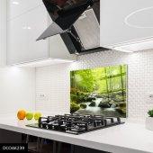 Disegno Cam Ocak Arkası Koruyucu 50x50 Cm Nehir