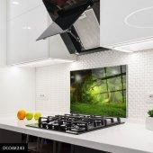 Disegno Cam Ocak Arkası Koruyucu 50x50 Cm Orman