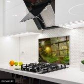 Disegno Cam Ocak Arkası Koruyucu 50x50 Cm Patika