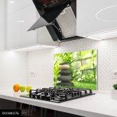 Disegno Cam Ocak Arkası Koruyucu 50x50 Cm Siyah Taşlar