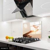 Disegno Cam Ocak Arkası Koruyucu 50x50 Cm Güvercin