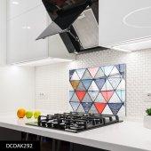 Disegno Cam Ocak Arkası Koruyucu 50x50 Cm Geometrik