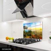 Disegno Cam Ocak Arkası Koruyucu 50x50 Cm Doğa