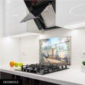 Disegno Cam Ocak Arkası Koruyucu 50x50 Cm Tavuz Kuşu