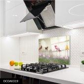 Disegno Cam Ocak Arkası Koruyucu 50x50 Cm Kuş