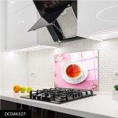 Disegno Cam Ocak Arkası Koruyucu 50x50 Cm Çay