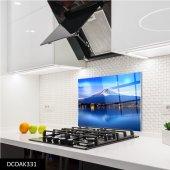 Disegno Cam Ocak Arkası Koruyucu 50x50 Cm Dağ