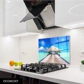 Disegno Cam Ocak Arkası Koruyucu 50x50 Cm Deniz Ve Kamelya