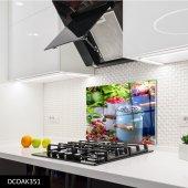 Disegno Cam Ocak Arkası Koruyucu 50x50 Cm Kırmızı Meyveler