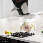 Disegno Cam Ocak Arkası Koruyucu 50x50 Cm Değerli Taş