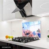 Disegno Cam Ocak Arkası Koruyucu 50x50 Cm Kelebek