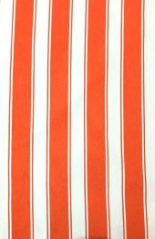 Ceylan Home 950/240 Balkon Perdesi Brandası Turuncu Beyaz Çizgili