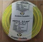 öznur Bakır 2,5 Nya Kablo Sarı Yeşil 1 Metre