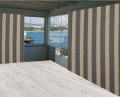 Ceylan Home Balkon Perdesi Gri Sarı Çizgili 675x250