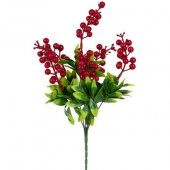 Yapay Çiçek Kırmızı Kukuleta Demet 40 Cm