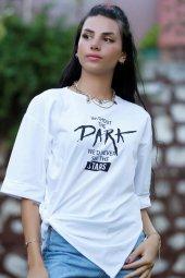 Dark Baskılı Tişört Beyaz - 2516.927.