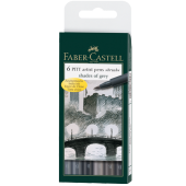 Faber Castell Çizim Kalemi Pitt Fırça Uç Gri Tonlar 6 Renk