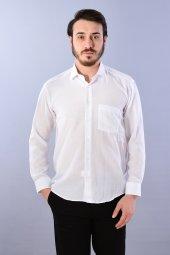 Erkek Gömlek Beyaz Klasik Kesim