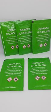 İzopropil Alkol (IPA ipa), Mendil Formunda, Çift Taraflı Bant İçin Yüzey Temizleyici, 5'li Paket-2