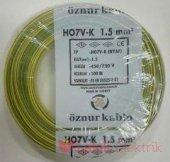 öznur Bakır 1,5 Nya Kablo Sarı Yeşil 1 Metre