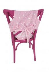 Sevi Bebe Kumaş Mama Sandalyesi Pembe Yıldız