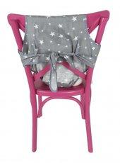 Sevi Bebe Kumaş Mama Sandalyesi Gri Yıldız