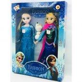 Frozen Karlar Ülkesi Olaflı Anna Elsa Oyuncak Bebek 2side Sesli Müzikli