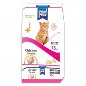 Paw Paw Kitten Tavuk Etli Yavru Kedi Maması 15 Kg