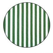 Balkon Korkuluğu Brandası Pamuklu Dokuma Çizgili Kumaşı Yeşil-Beyaz 40 cm X 9 Mt.