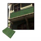 Balkon Korkuluğu Brandası  File Haki Jüt 120 Cm X 10 Mt.