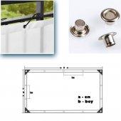 Balkon Korkuluğu Çizgili Polyester Turuncu-Beyaz50 cm X 3 Mt.