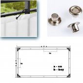 Balkon Korkuluğu Çizgili Polyester Turuncu-Beyaz110 cm X 3 Mt.
