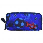 Joy' S Cool Futbol Çift Bölmeli Kalem Çantası Erkek Çocuk Mavi