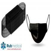8m Ultrasonik Cerrahi Maske Siyah 3 Katlı 50 Adet