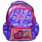 Joy' S Cool Kalp Işlemeli Kız Çocuk Sırt Çantası Okul Ve Günlük Mavi