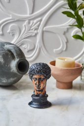 Dekoratif Yunan Hermes Büst (6)