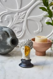 Dekoratif Yunan Hermes Büst (4)