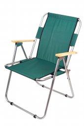Katlanır Kamp/Bahçe Sandalyesi (Ahşap Kolçaklı)
